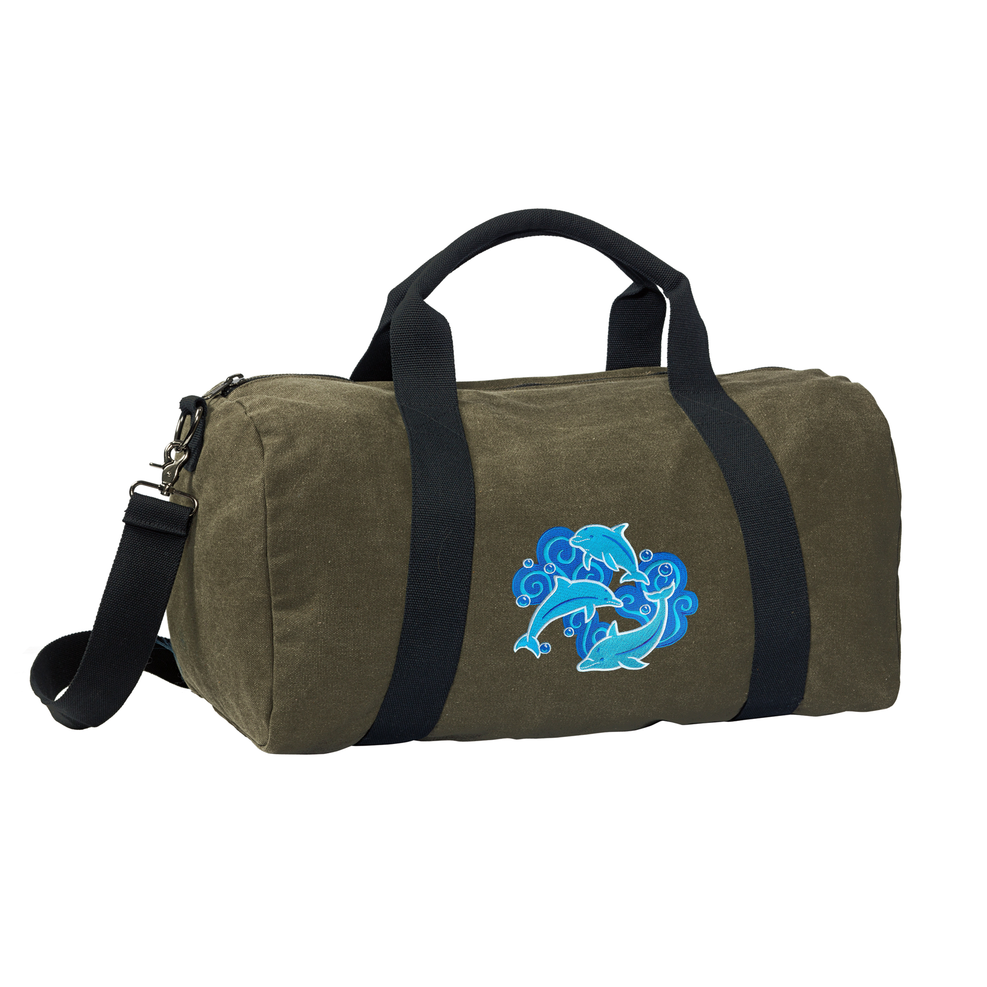 Dolphin Duffle Bag CANVAS Dolphin Luggage Bag by