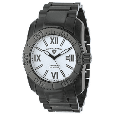 Swiss Legend Men's Commander Collection Black Ion-Plated Stainless Steel Watch - SL-643-10059-BB-22