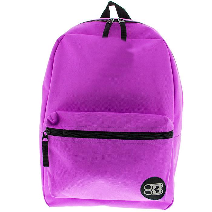 Case Lot 40pc Simple/Basic 16in Backpack Book bag Black