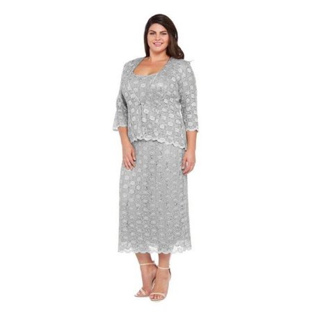 Rm Richards Long Plus Size Mother Of The Bride Dress Walmart