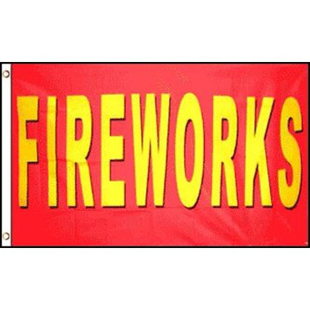 Tent Banner (FIREWORKS Flag Firework Tent Business Advertising Banner Store Pennant 3x5)