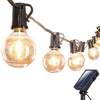 Solar Outdoor String Lights 20ft, Outdoor Hanging Lights For Pergola