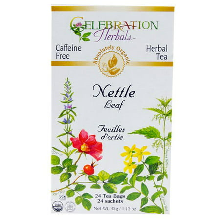 Celebration Herbals Organic Nettle Leaf Tea Caffeine Free 24 Herbal Tea Bags (Organic Nettle Tea)