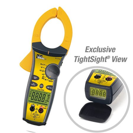 Ideal 61-775 1000A AC-DC TightSight-amp;reg; Clamp Meter with TRMS Ca