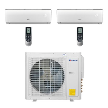 Wall Mounting Unit (Gree MULTI30CLIV202 - 30,000 BTU Multi21+ Dual-Zone Wall Mount Mini Split Air Conditioner Heat Pump 208-230V)