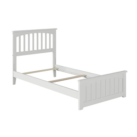 Mission Traditional Bed with Matching Foot Board, Multiple Colors and Sizes