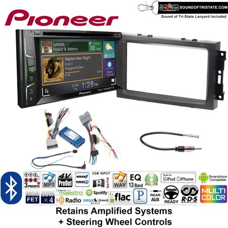- Pioneer AVH-501EX Double Din Radio Install Kit with DVD/CD Player Bluetooth Fits 2007-2008 Ram, 2006-2007 Chrysler 300 (Retains steering wheel controls) + Sound of Tri-State Lanyard