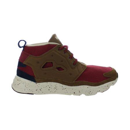 Mens Reebok Furylite Chukka Seasonal Outdoor Burgundy Khaki Navy V6996 (Reebok Chukka Shoes)