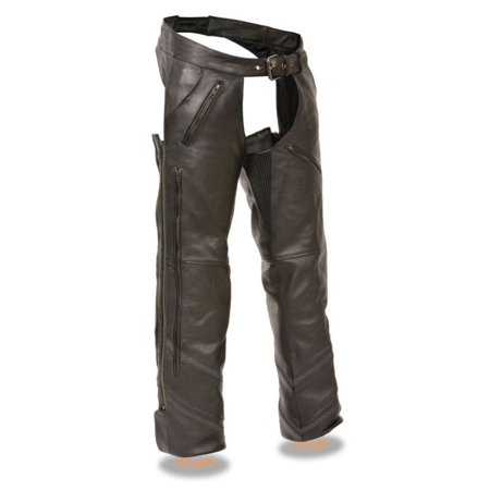 (Milwaukee Mens Vented Chaps w/Reflective Piping Black)