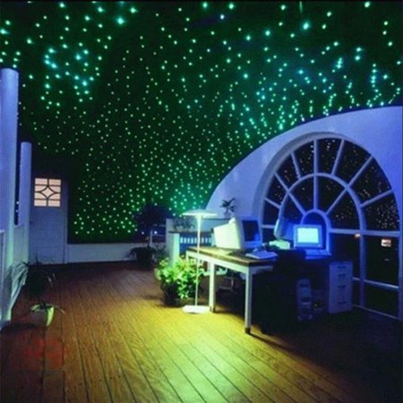 Girl12Queen 200Pcs 3D Stars Glow In The Dark Luminous Fluorescent Wall Stickers Home Decor - Glow In The Dark Stars Walmart