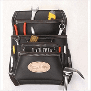 10 Pocket Oil Tanned Leather Nail & Tool Pouch Bag