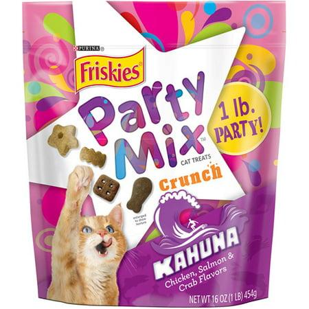 Purina Friskies Party Mix Crunch Kahuna Cat Treats 16 oz. Pouch