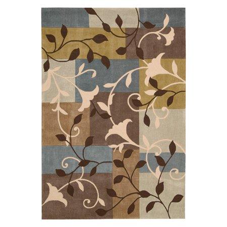 Nourison Contour Floral Mosaic Rich Color Palette Area Rug ()