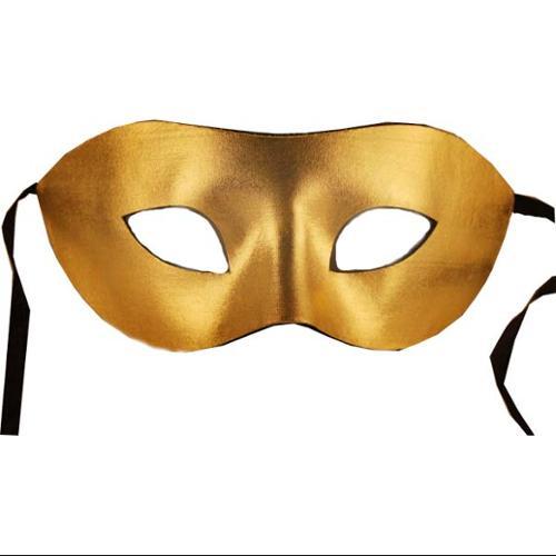 Eye Venetian, Masquerade, Mardi Gras Mask Gold W/Felt Backing