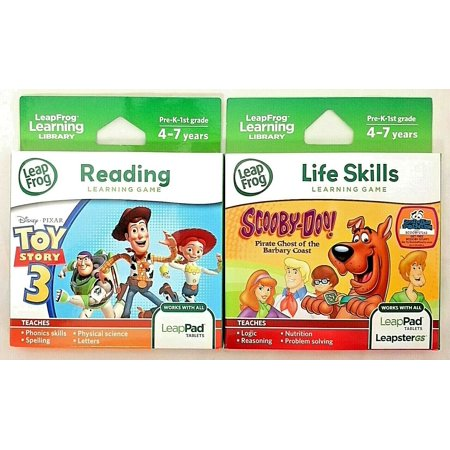 2 Pack - LeapFrog Scooby-Doo! Pirate Ghost AND Toy Story 3 Learning Games (works with LeapPad Tablets, LeapsterGS and Leapster Explorer) - Leapster Handheld Games