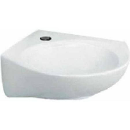 American Standard 36 Single (American Standard 0611.001.020 Cornice Wall Mounted Corner Lavatory Sink with Single Faucet Hole, White )