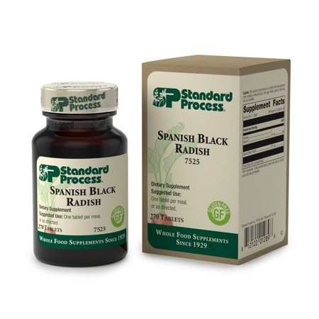 Standard Process - Spanish Black Radish - Supports Healthy Liver and Gallbladder Function, Digestion and Toxin-Elimination, Provides Vitamin C, Gluten Free and Vegetarian - 270 Tablets ()