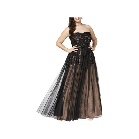 City Chic Womens Plus Strapless Party Evening Dress (Party City Masquerade Dresses)