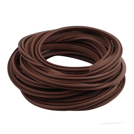 11mm Width Rubber Door Window Glass Strip Seal Draught Excluder Brown 30 feet