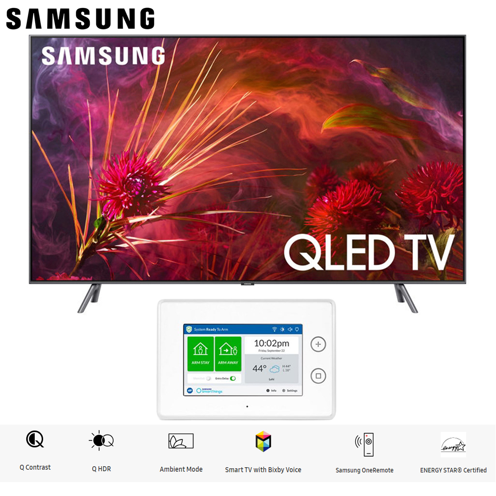 "Samsung QN55Q8FNB QN55Q8 QN55Q8F 55Q8F Q8 Series 55"" Q8FN QLED Smart 4K UHD TV (2018 Model) with SmartThings ADT... by Samsung"