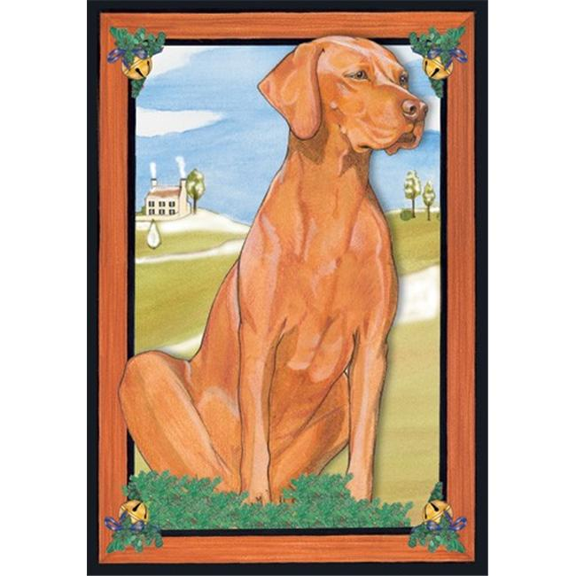 Pipsqueak Productions C881 Holiday Boxed Cards- Vizsla