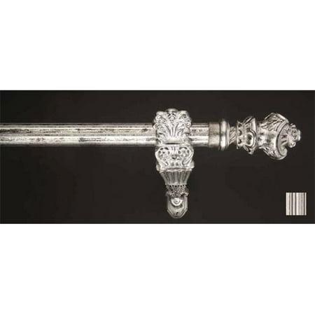 Winart USA 8.1184.30.27.160 Palas 1184 Curtain Rod Set - 1,25 po - Driftwood Blanc - 63 pouces - image 1 de 1