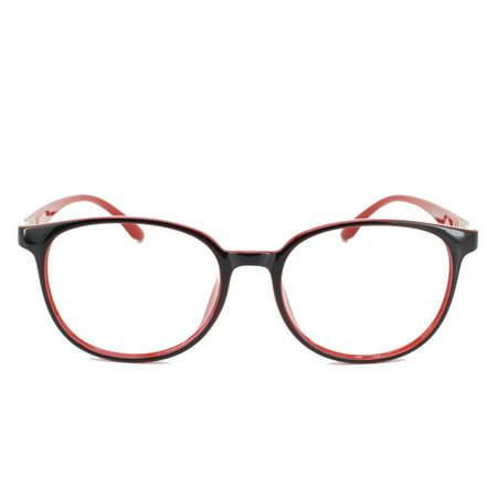197f033ae6 Eye Buy Express Prescription Glasses Mens Womens Black Red Round Retro  Style Reading Glasses Anti Glare grade - Walmart.com