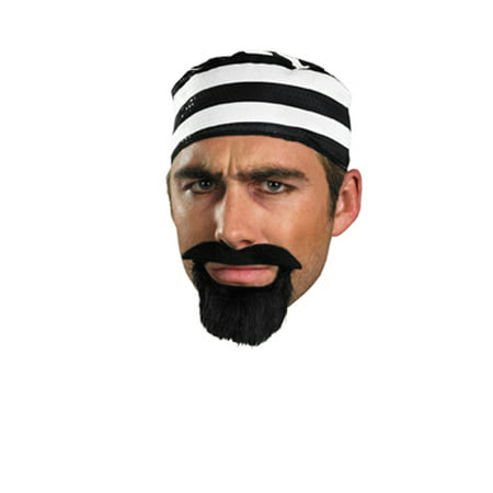 Adult Prisoner Mustache & Beard Disguise 15026, One Size](Mustache Ideas For Halloween)