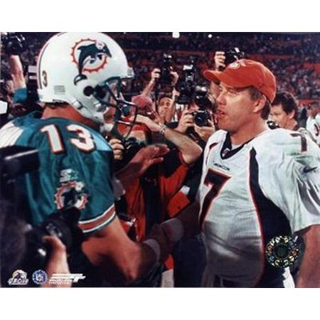 Dan Marino John Elway Sports Photo Dan Marino Autographed Dolphins