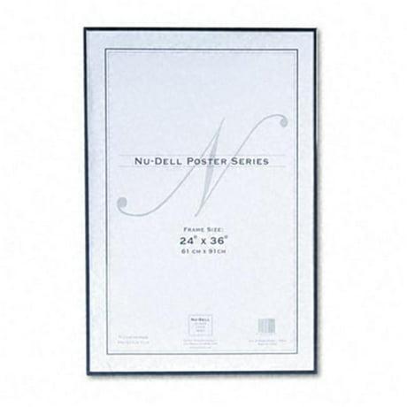 Nu-Dell 31242 Metal Poster Frame Plastic Face 24 x 36 Black