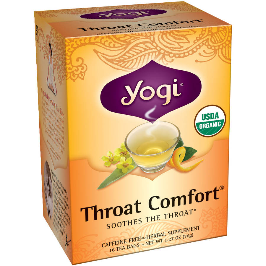 Yogi Throat Comfort Herbal Supplement Tea Bags, 16 ct, 1.27 oz