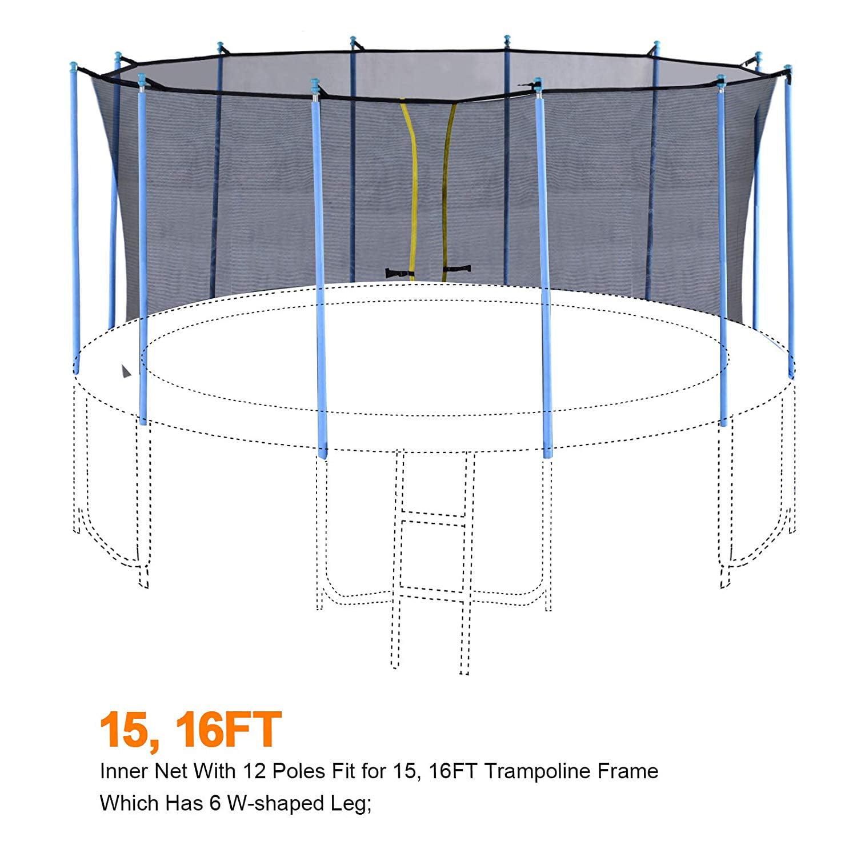 Exacme Safety Intra Enclosure Net With 8 Poles For C Series 14ft Frame Trampoline C14n Walmart Com Walmart Com
