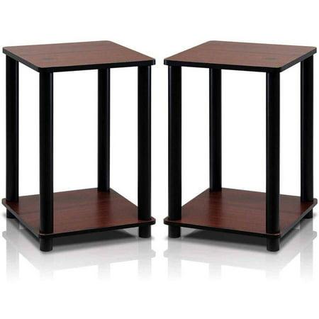 Furinno 2-99800RDC Turn-N-Tube End Table Corner Shelves, Set of 2 ()