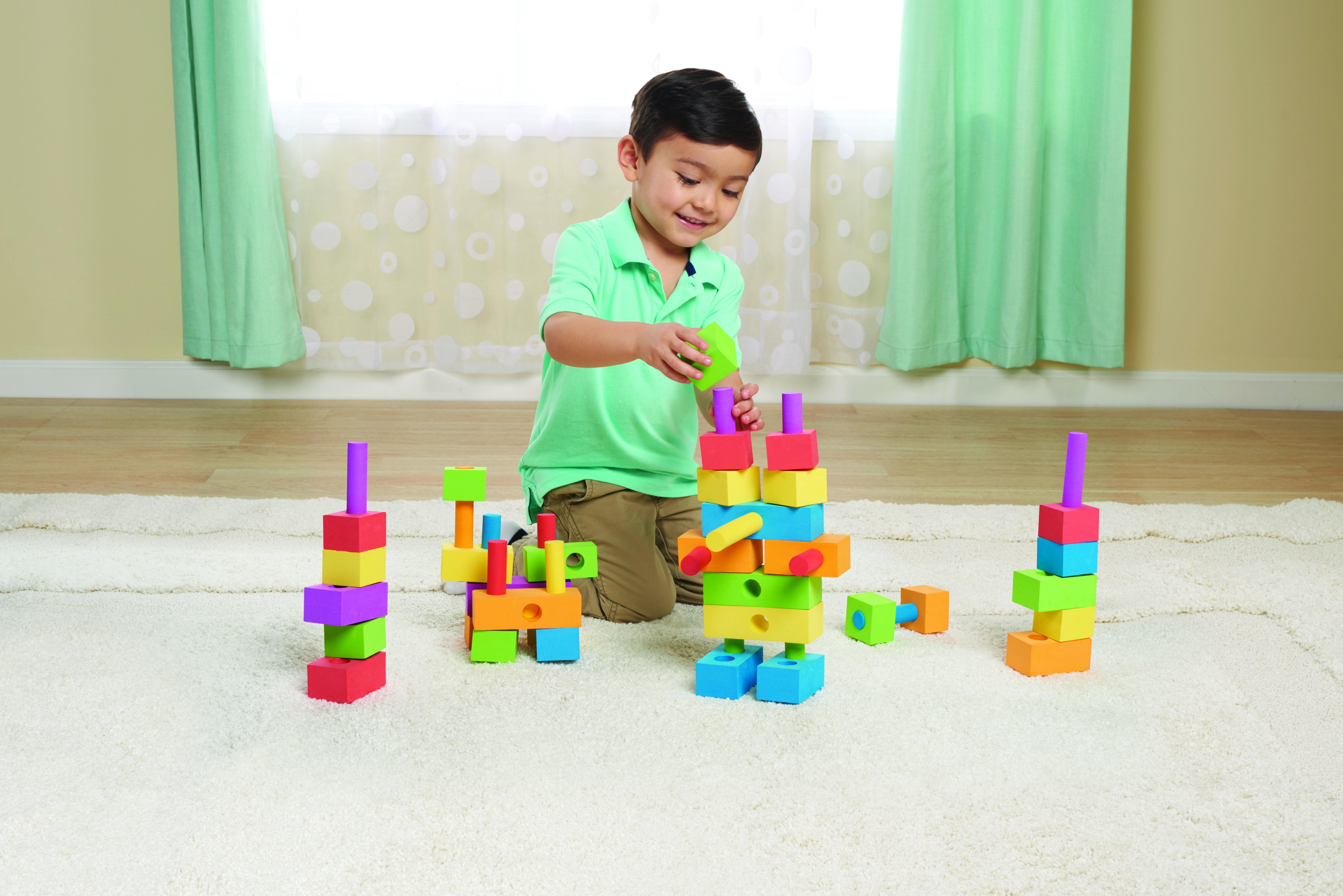 Spark 100 Pcs Foam Peg Blocks by Spark