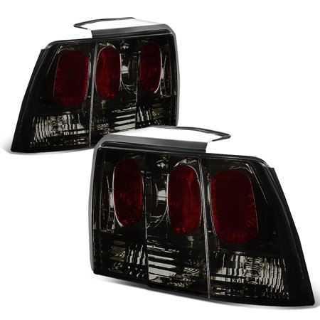 For 1999 to 2004 Ford Mustang SN95 Pair of Smoked Lens Altezza Style Tail Brake Lights 00 01 02 03 Accent 00 01 02 Tail