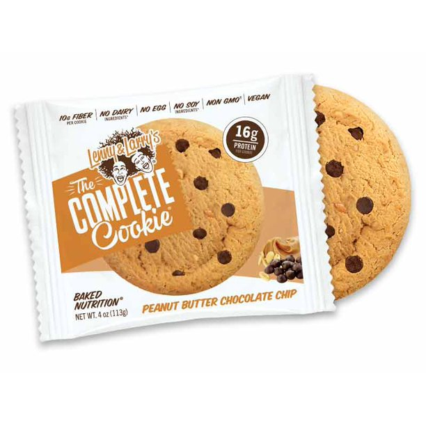 Lenny Larry S The Complete Cookie Peanut Butter Chocolate 4oz 12ct Plant Based Protein Cookies Vegan And Non Gmo Walmart Com Walmart Com