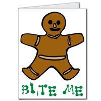 2'x3' Giant Christmas Card (Gingerbread Man), W/Envelope