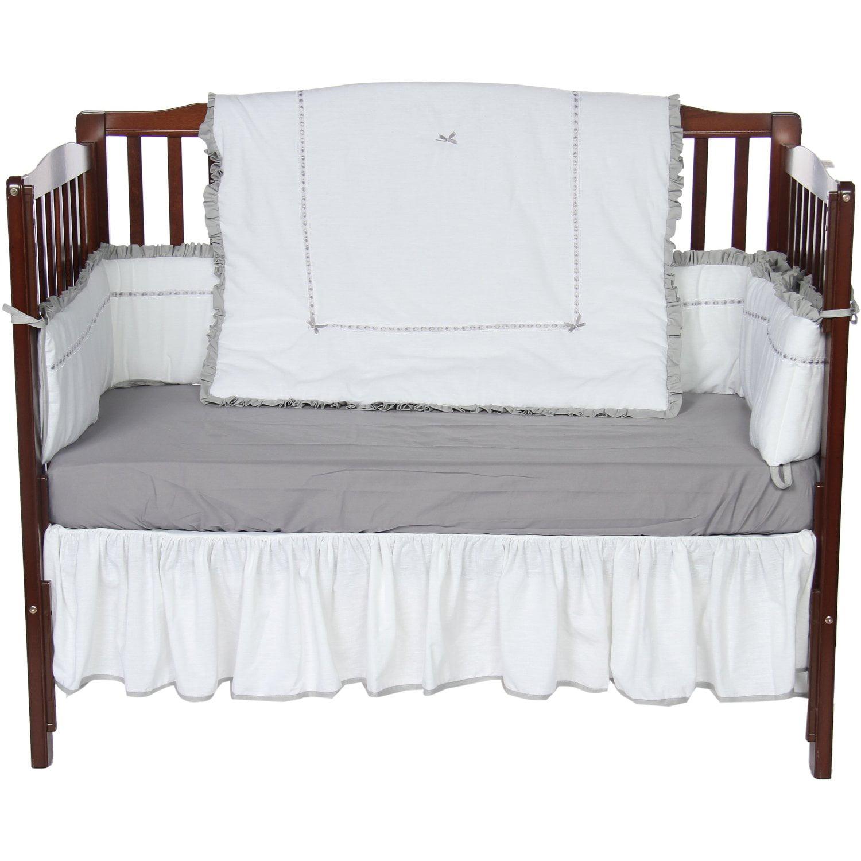 Baby Doll Bedding Unique 4 Piece Crib Bedding Set in Grey by Baby Doll Bedding