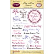 """JustRite Papercraft Clear Stamps 4""""X6""""-Hugs & Kisses"""
