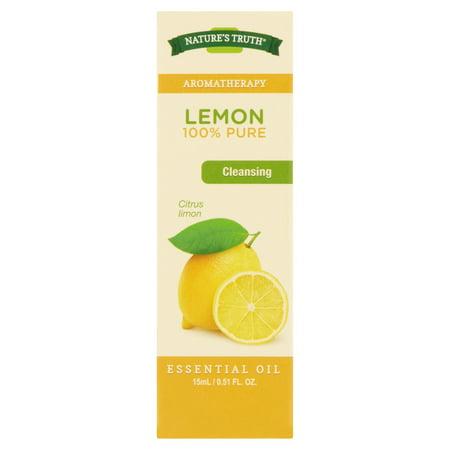 - Nature's Truth Aromatherapy Lemon Essential Oil, 0.51 Fl Oz