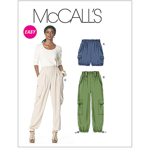 McCall's Pattern Misses' Shorts, and Pants in 2 Lengths, Y (XS, S, M)