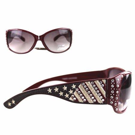 7036d164bb7 Montana West Ladies Sunglasses American Pride US Flag Stars and Stripes  UV400 - Walmart.com
