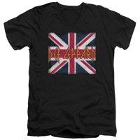 Def Leppard - Union Jack - Slim Fit V Neck Shirt - XX-Large