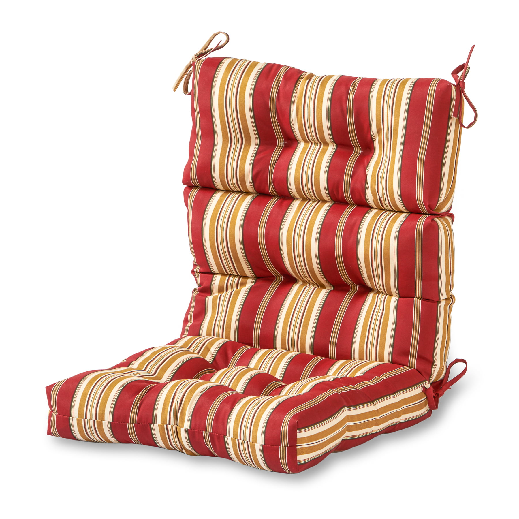 Greendale Home Fashions Roma Stripe Outdoor High Back Chair Cushion