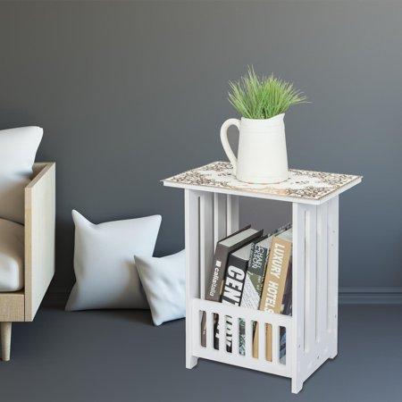 Asian Tea Table (Ktaxon Bedside Cabinet Tea Table Coffee Table Wood Plastic Board 2-storey Locker White)