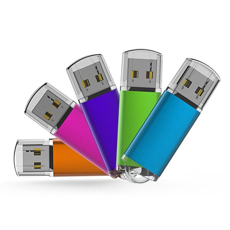 KOOTION 5 Pack 32GB USB 2.0 Flash Drive Thumb Drives Memory Stick, 5 Mixed Colors: Blue, Purple, Pink, Green, - Expan Drive
