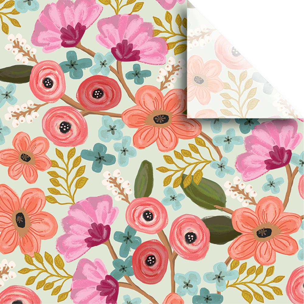 """Jillson & Roberts Printed Gift Tissue 20"""" x 30"""", Gypsy Floral (240 Sheets)"""