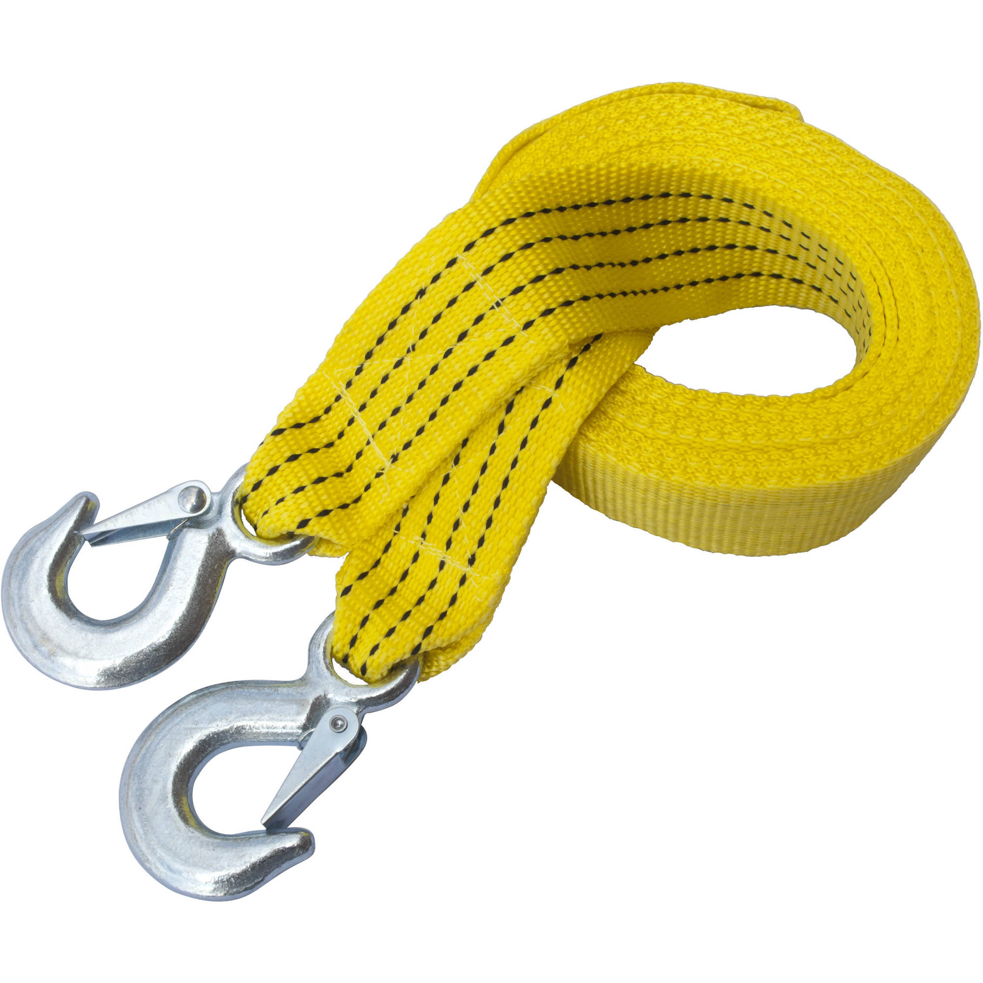ALEKO TR5T2X13 Heavy-Duty Tow Strap with Hooks, 11,000 lb Capacity, 13' Long, Yellow by ALEKO