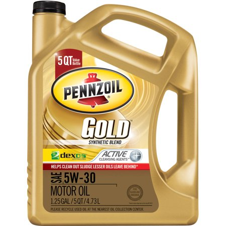 Pennzoil 5w 30 synthetic blend motor oil 5 qt for Top rated motor oil synthetic