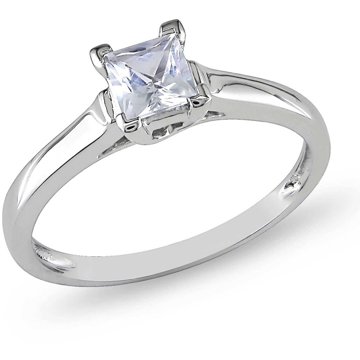 dp gold ttw amazon ring sapphire created white engagement halo bridal set com cushion diamond round